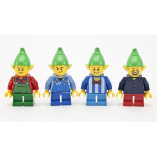LEGO Holiday Christmas Minifigures - Four Christmas Elves Set / Elf ( from set 10245 )