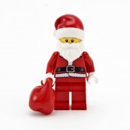 LEGO Holiday Christmas Minifigures - Christmas Santa with Red Bag ( from set 10245 )