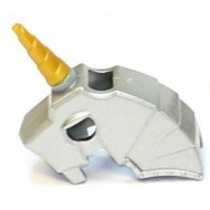 LEGO Animal Accessories - Metallic Silver Horse Battle Helmet, include Pearl Gold Unicorn