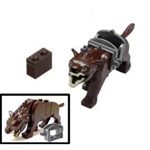 LEGO Brown Warg with Saddle