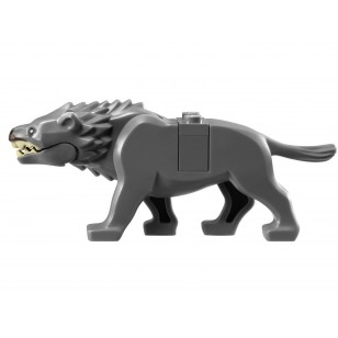 LEGO Animals - Dark Bluish Gray Warg with Dark Brown Nose