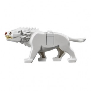 LEGO Animals - White Warg with Dark Red Nose