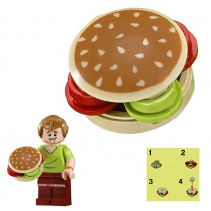 LEGO Minifigure Food - Hamburger with Sesame Seeds