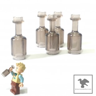 LEGO Minifigure Food - Trans Black Bottle
