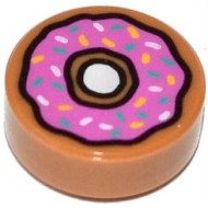 Doughnut with Dark Pink Frosting and Sprinkles Pattern