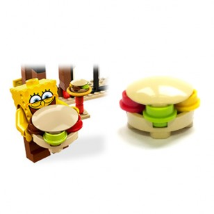 LEGO Minifigure Food - hamburger (from spongebob set)