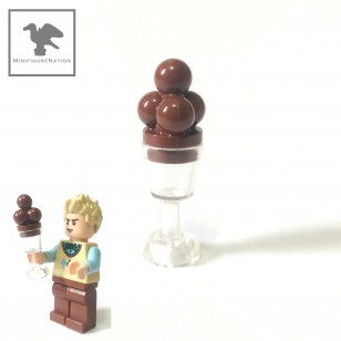 LEGO Minifigure Food - ice cream - chocate with clear glass