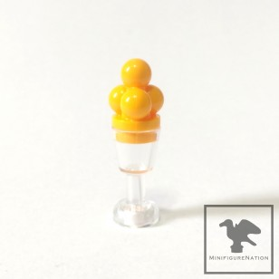 LEGO Minifigure Food - ice cream - mango with clear glass