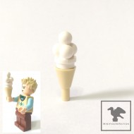 LEGO Minifigure Food - ice cream - vanilla with cone
