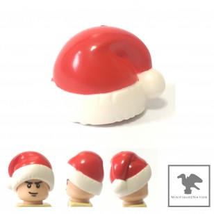 LEGO Minifigure Headgears - Santa Hat with Red Top Pattern , Christmas Hat 聖誕老人帽