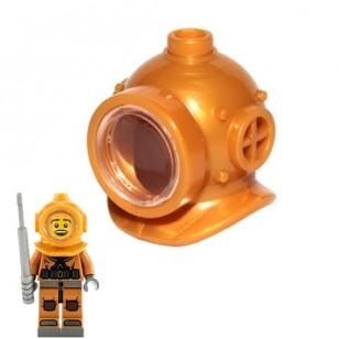 LEGO Minifigure Headgears - Underwater Deep Diver Helmet