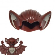 LEGO Minifigure Headgears - Reddish Brown Hair with Bat Ears and Tan Inner Ear