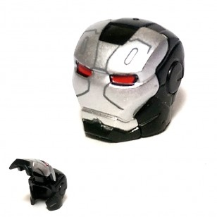 LEGO Minifigure Headgears - Black Iron Man Full Helmet