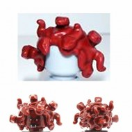 LEGO Minifigure Headgears - Dark Red Medusa - Hair Entwined Snakes
