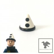 LEGO Minifigure Headgears - Cone Hat with Black Band and Pom Poms Pattern