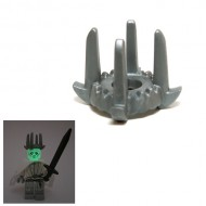 LEGO Minifigure Headgears - Night King Flat Silver Crown with 4 Tall Spikes