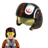 LEGO Minifigure Headgears - Star Wars Black Reblet Pilot Helmet (Poe Dameron)