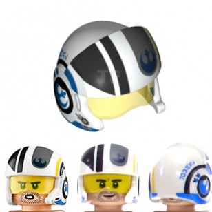 LEGO Minifigure Headgears - Star Wars White Reblet Pilot Helmet (Poe Dameron)
