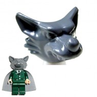 LEGO Minifigure Headgears - Dark Gray Werewolf Headgear Head Cover (Halloween)