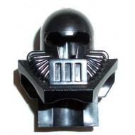 Black Minifig, Headgear Helmet Underwater Aquashark - Used