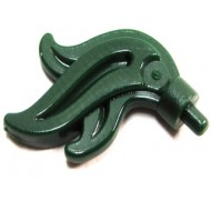Dark Green Minifig, Plume Feather Triple Compact / Flame / Water