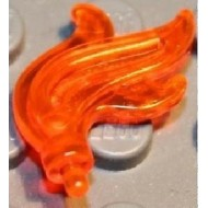 Trans-Neon Orange Minifig, Plume Feather Triple Compact / Flame / Water
