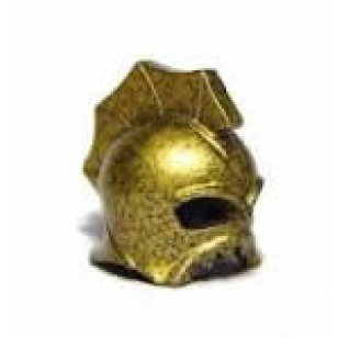 LEGO Minifigure Headgears - Speckle Black-Gold Minifig, Headgear Helmet Underwater Atlantis Portal Emperor