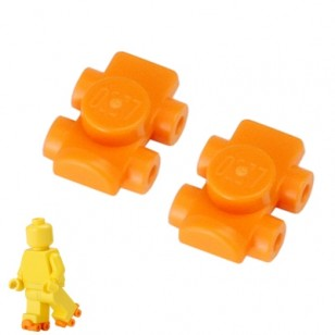 A pair of Orange Footgear Roller Skate