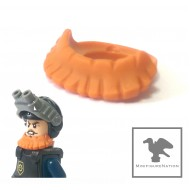 Orange Minifig, Beard, Short