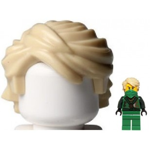 Tan Minifig, Hair Swept Back Tousled
