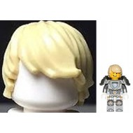 Tan Minifig, Hair Tousled with Side Part