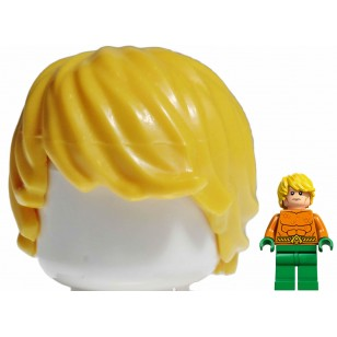 LEGO Minifigure Hair- Yellow Minifig, Hair Tousled with Side Part