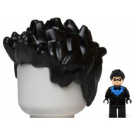 LEGO Minifigure Hair- Black Minifig, Hair Spiked