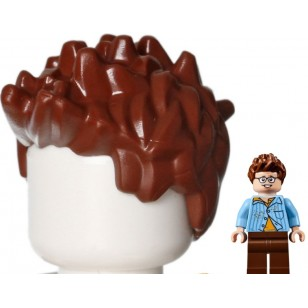 LEGO Minifigure Hair- Reddish Brown Minifig, Hair Spiked