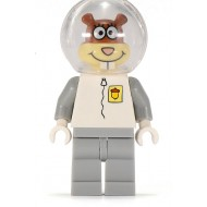 LEGO SpongeBob SquarePants Minifigures - Sandy Cheeks - White Legs (without Helmet)
