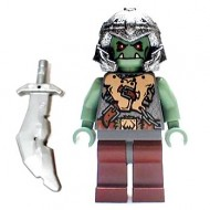 LEGO Fantasy Era Minifigures - Troll Warrior 2 (Orc) Gold Chest Plate
