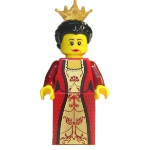 LEGO Kingdoms Minifigures - Queen with Black Hair