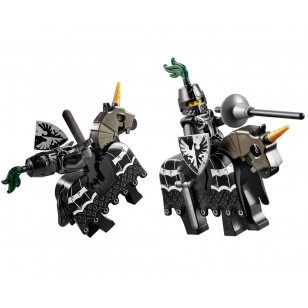 LEGO Castle Minifigures - Falcon Knight with battle horse