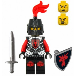 LEGO Castle Minifigures - Castle - Dragon Knight with Armor , Sword and Shield