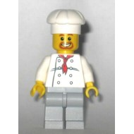 LEGO City Minifigures - Chef - White Torso with 8 Buttons, Light Bluish Gray Legs
