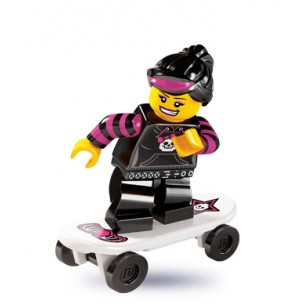 LEGO Series 6 Minifigures Minifigures - Skater Girl - Complete Set