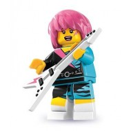 LEGO Series 7 Minifigures Minifigures - Rocker Girl - Complete Set