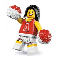 LEGO Series 8 Minifigures Minifigures - Red Cheerleader - Complete Set