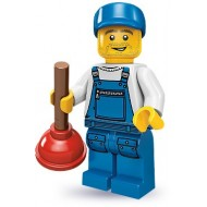 LEGO Series 9 Minifigures Minifigures - Plumber - Complete Set