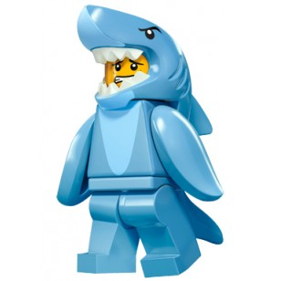 LEGO Series 15 Minifigures - Shark Suit Guy - COMPLETE SET