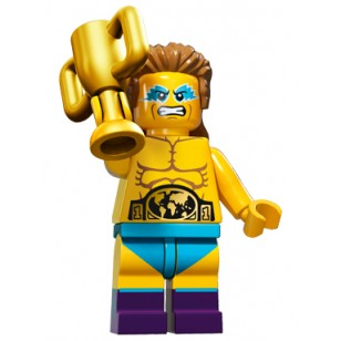 LEGO Series 15 Minifigures - Wrestling Champion - COMPLETE SET