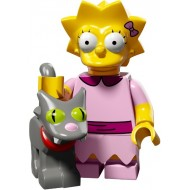 LEGO Series Simpsons 2 - Lisa Simpson with Bright Pink Dress and Snowball - Complete Set
