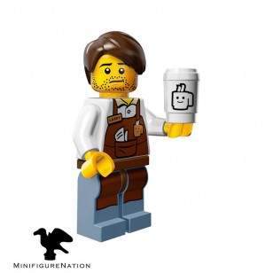 LEGO Series Movie Minifigures - Larry the Barista - COMPLETE SET