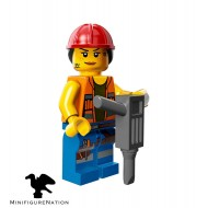 LEGO Series Movie Minifigures - Gail the Construction Worker - COMPLETE SET