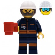 LEGO City Minifigures - Female Rocket Engineer - Face Covered with Dirt